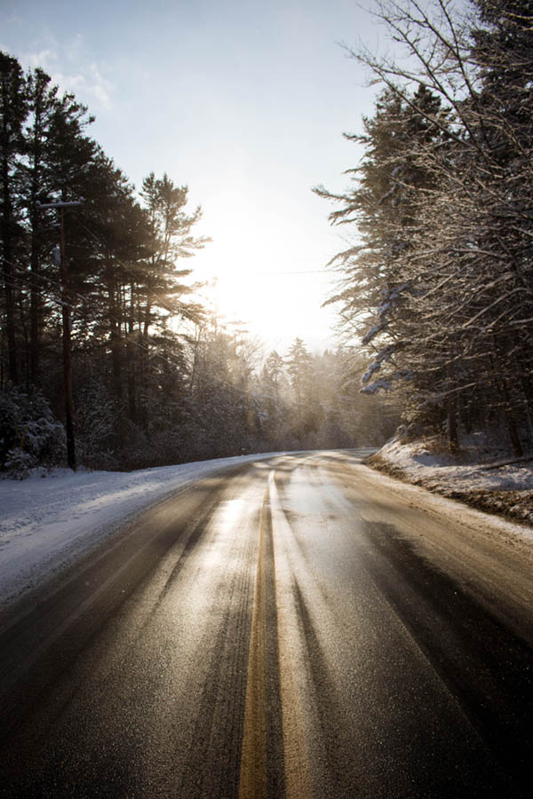 vermont winter road